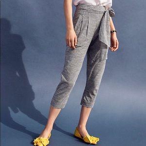 Anthropologie NWT Cartonnier Tie -Waist Trousers